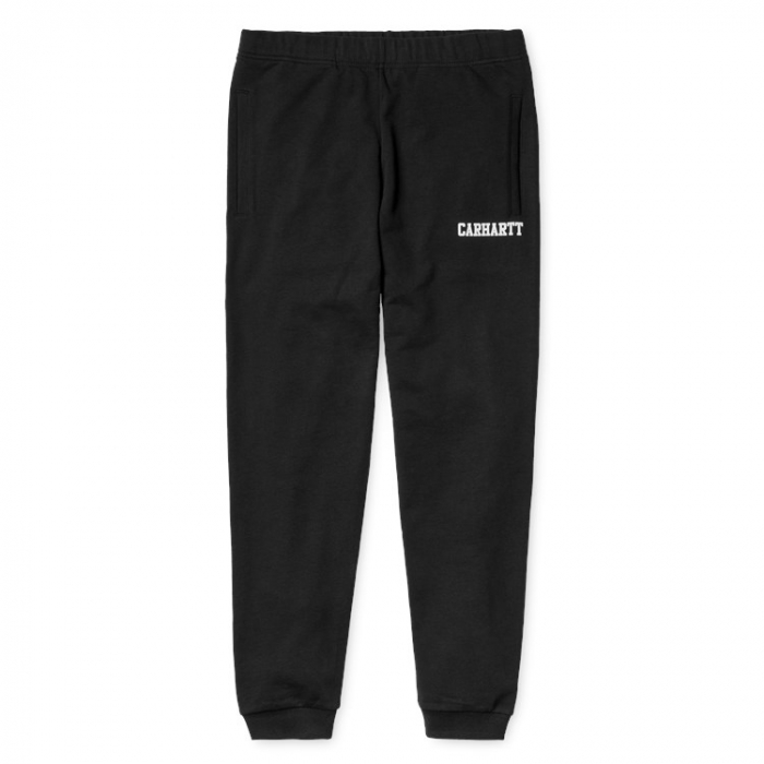CARHARTT COLLEGE SWEAT PANT BLACK / WHITE 0