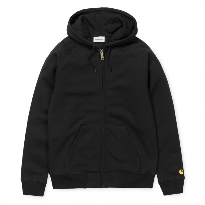 CARHARTT Hooded Chase Jacket Black / Gold 0