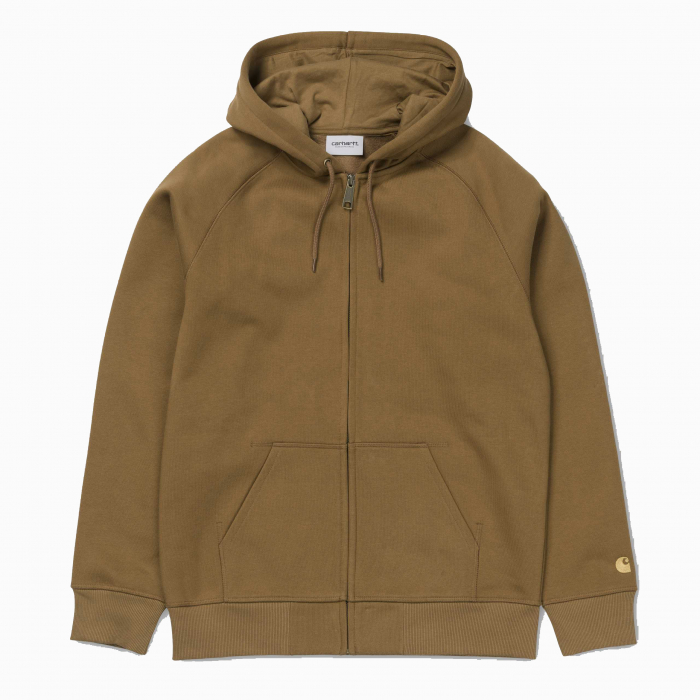 CARHARTT Hooded Chase Jacket Hamilton Brown / Gold 0