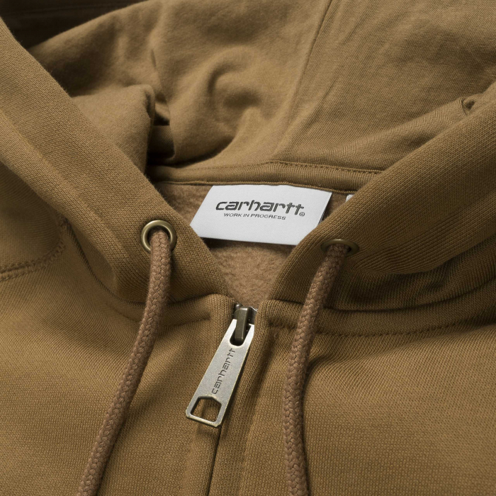 CARHARTT Hooded Chase Jacket Hamilton Brown / Gold 1