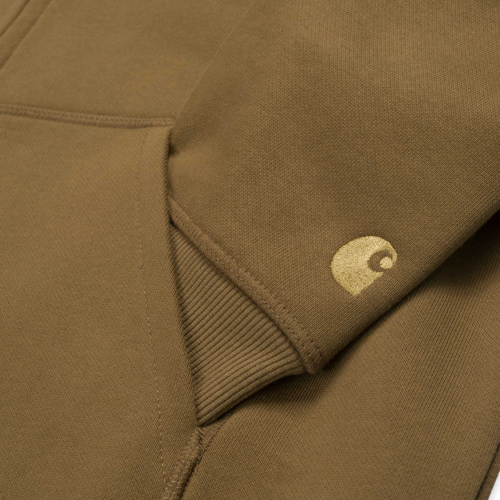 CARHARTT Hooded Chase Jacket Hamilton Brown / Gold 2