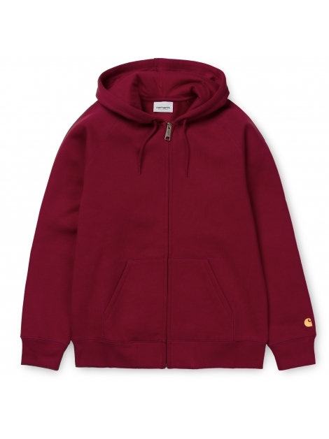 CARHARTT Hooded Chase Jacket Cardinal / Gold 0