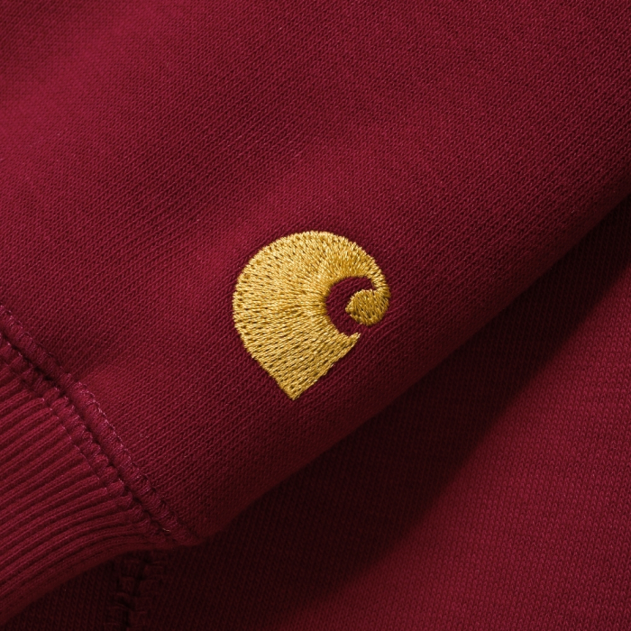 CARHARTT Hooded Chase Jacket Cardinal / Gold 1