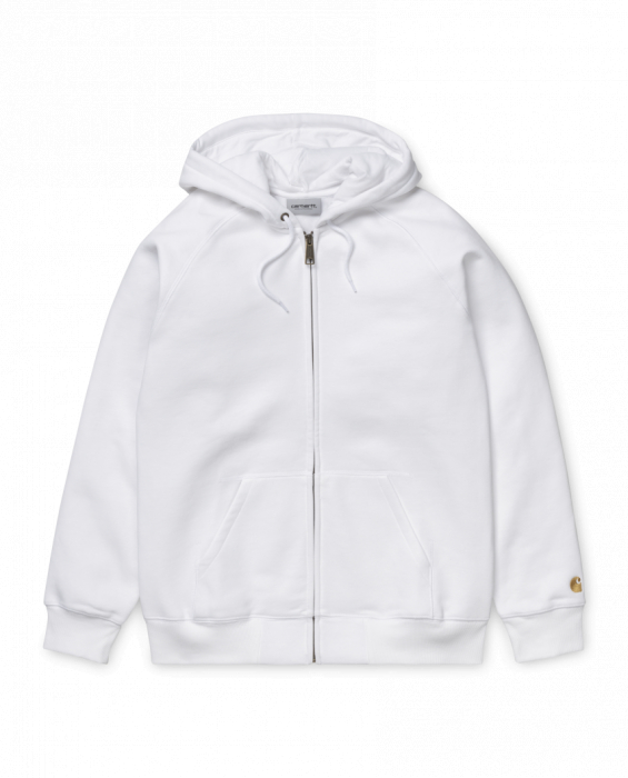 CARHARTT Hooded Chase Jacket White / Gold 0