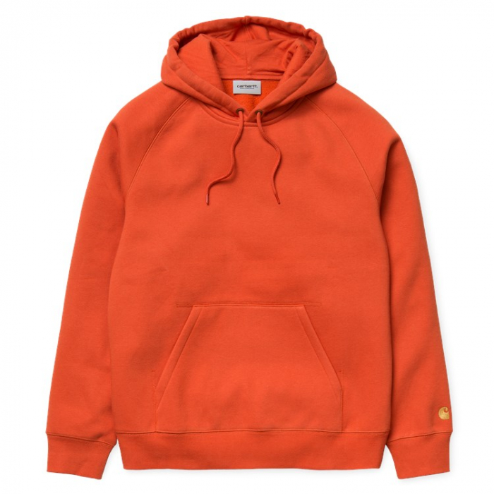 CARHARTT HOODED CHASE SWEAT BRICK ORANGE / GOLD 0