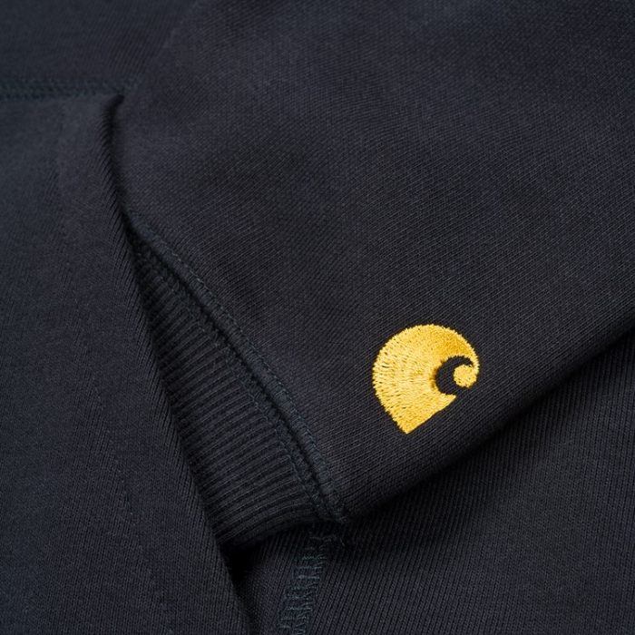 CARHARTT HOODED CHASE SWEAT DARK NAVY /GOLD 2