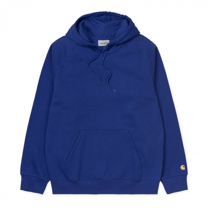 CARHARTT Hooded Chase Sweat Thunder Blue / Gold 0