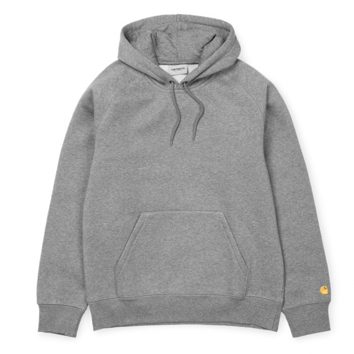 CARHARTT HOODED CHASE SWEAT GREY HEATHER / GOLD 0