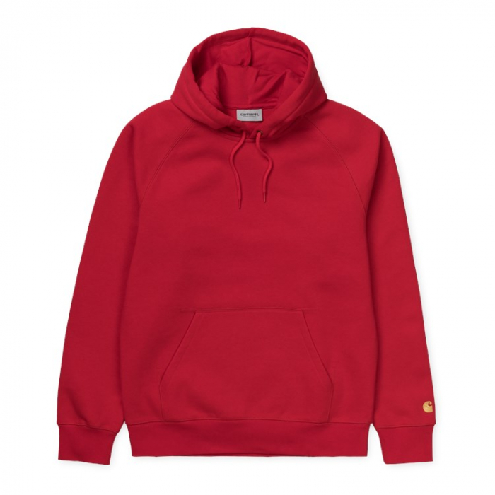 CARHARTT HOODED CHASE SWEAT ETNA RED / GOLD 0