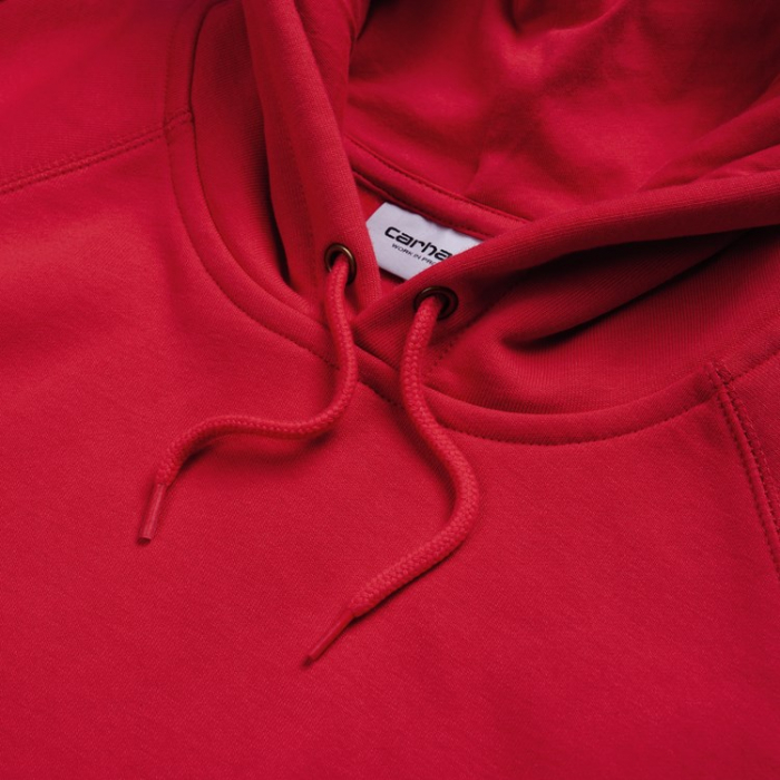 CARHARTT HOODED CHASE SWEAT ETNA RED / GOLD 1