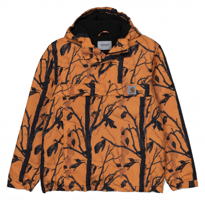 CARHARTT NIMBUS PULLOVER CAMO TREE, ORANGE 0