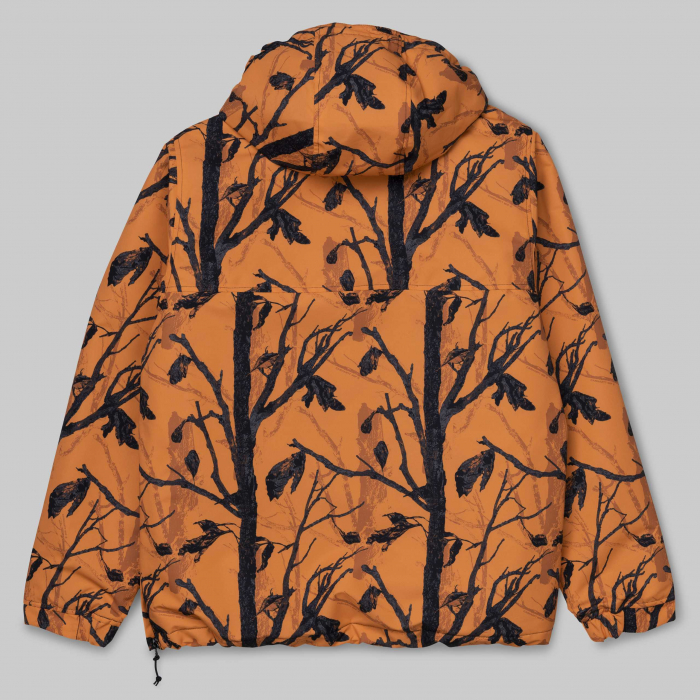 CARHARTT NIMBUS PULLOVER CAMO TREE, ORANGE 1