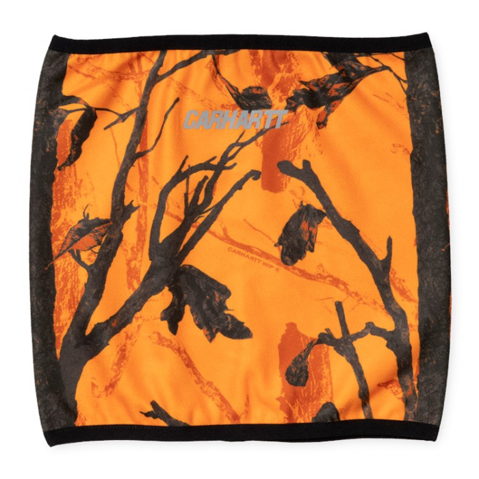 CARHARTT Beaufort Neckwarmer Camo Tree, Orange / Reflective 0