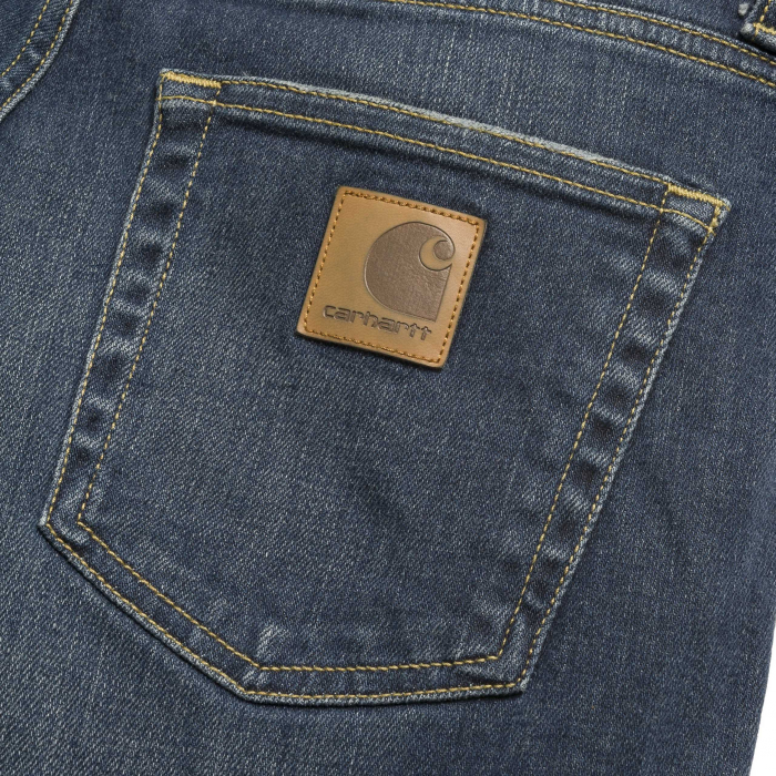 CARHARTT REBEL PANT SPICER BLUE NATURAL DARK WASH 2