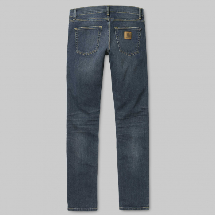 CARHARTT REBEL PANT SPICER BLUE NATURAL DARK WASH 3
