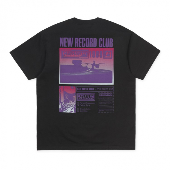 CARHARTT S/S Record Club T-Shirt Black 1
