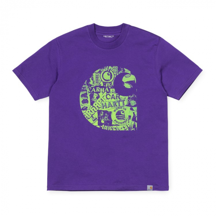 CARHARTT S/S Collage C T-Shirt Snape Purple / Lime 0