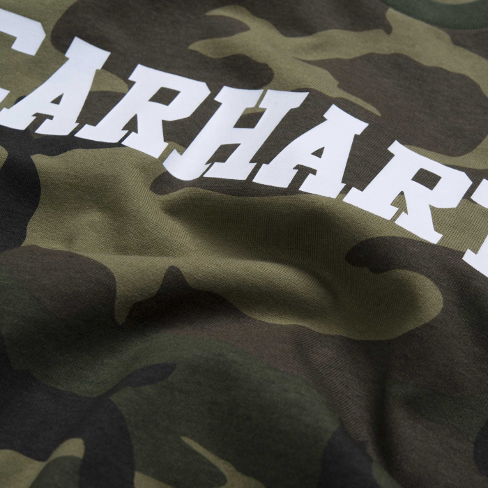CARHARTT S/S College T-Shirt Camo Laurel / White 1