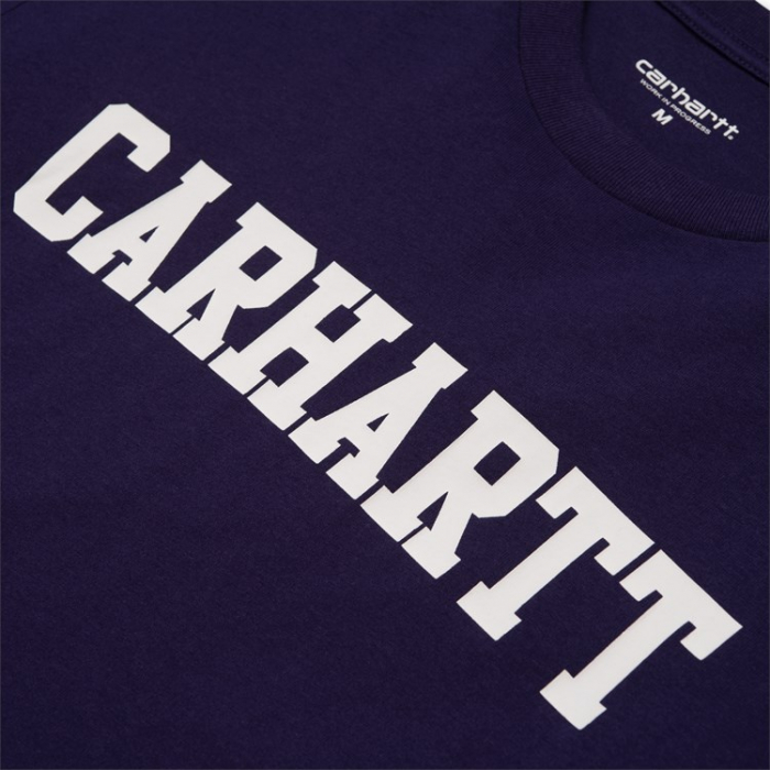 CARHARTT S/S College T-Shirt Royal Violet / White 1