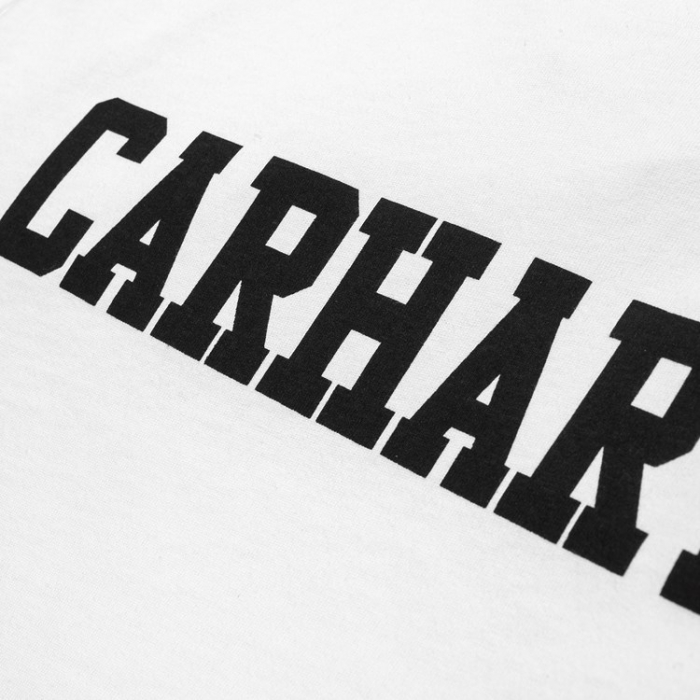 CARHARTT S/S College T-Shirt White / Black 2