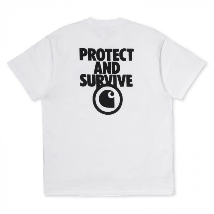CARHARTT S/S Protect T-Shirt White / Black 2