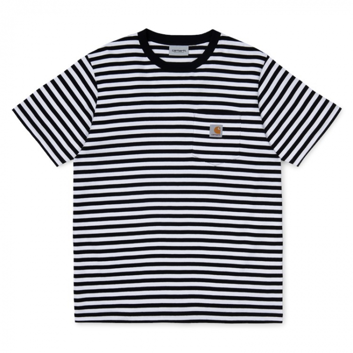 CARHARTT S/S Haldon Pocket T-Shirt Haldon Stripe Black / White 0