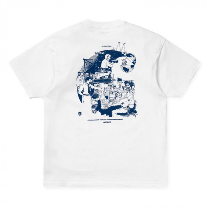 CARHARTT S/S Radio T-Shirt White / Blue 1