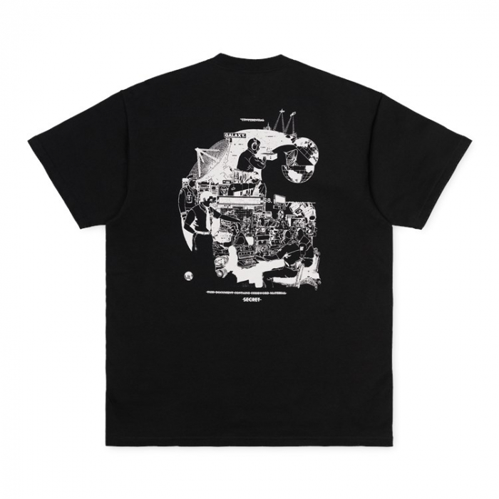 CARHARTT S/S Radio T-Shirt Black / White 3