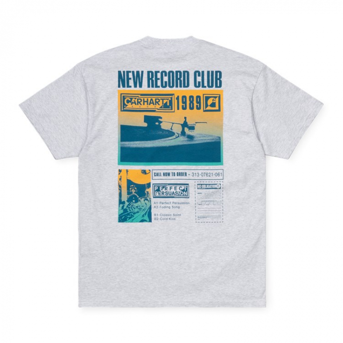 CARHARTT S/S Record Club T-Shirt Ash Heather 1