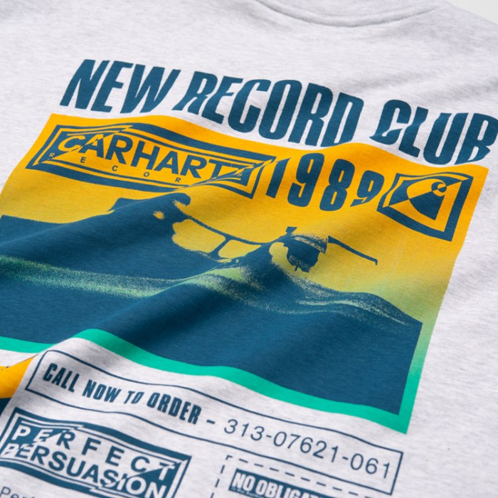 CARHARTT S/S Record Club T-Shirt Ash Heather 3