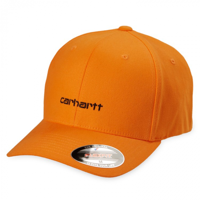CARHARTT Script Cap Pop Orange / Black 0