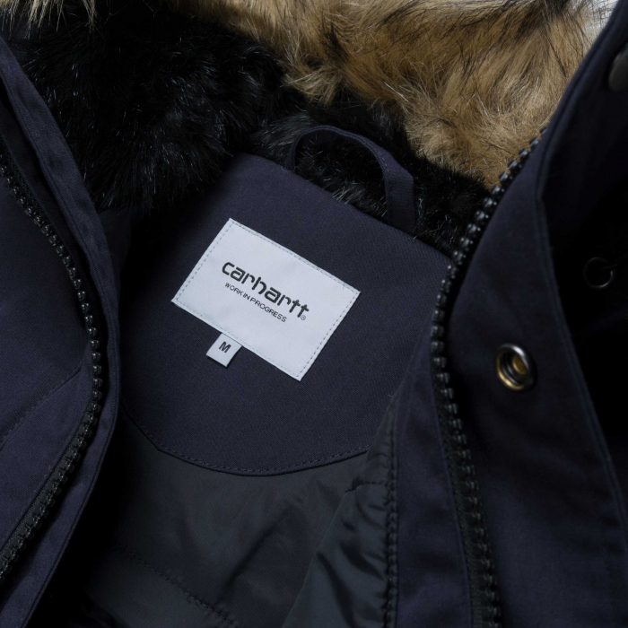 CARHARTT TRAPPER PARKA DARK NAVY / BLACK 7