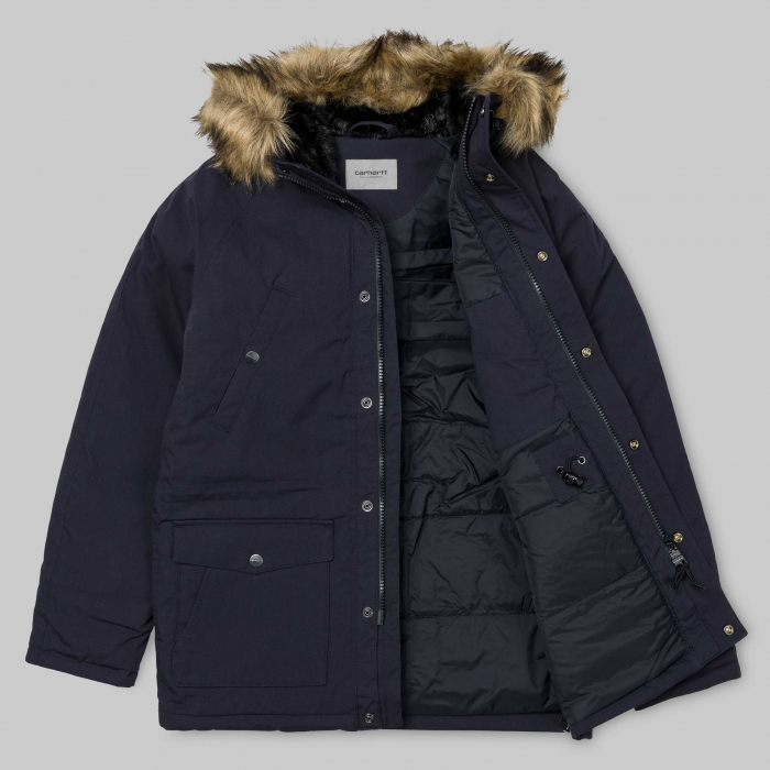 CARHARTT TRAPPER PARKA DARK NAVY / BLACK 8