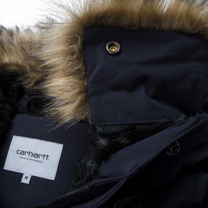 CARHARTT TRAPPER PARKA DARK NAVY / BLACK 5