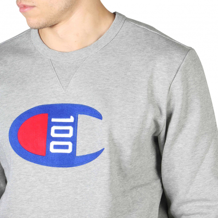CHAMPION Crewneck Logo Sweat 214369 Grey 2