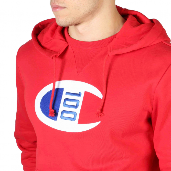 CHAMPION Hooded Sweat 214368 Red 2
