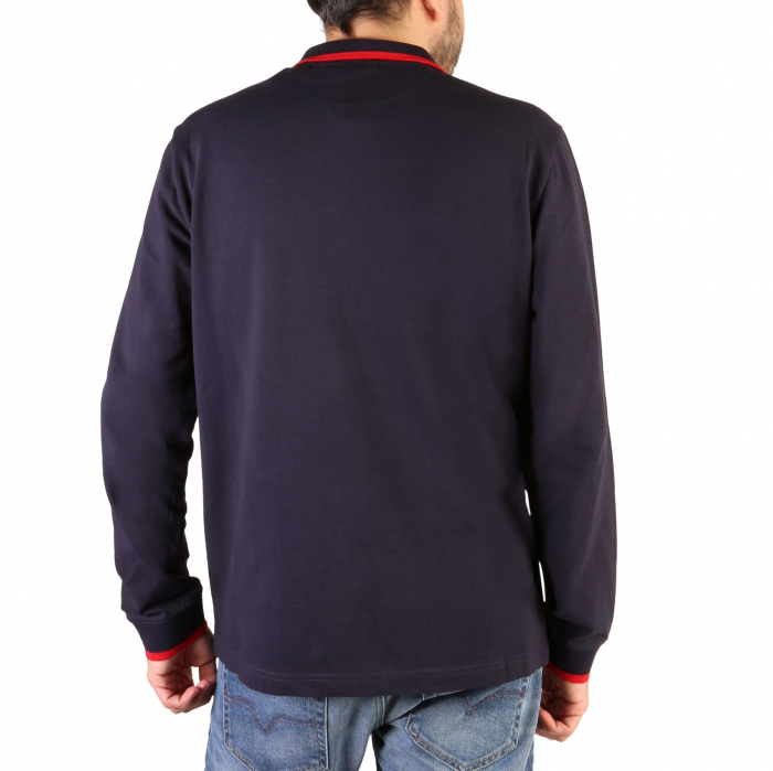 CHAMPION L/S Polo Shirt 214462 BS Navy Blue 1