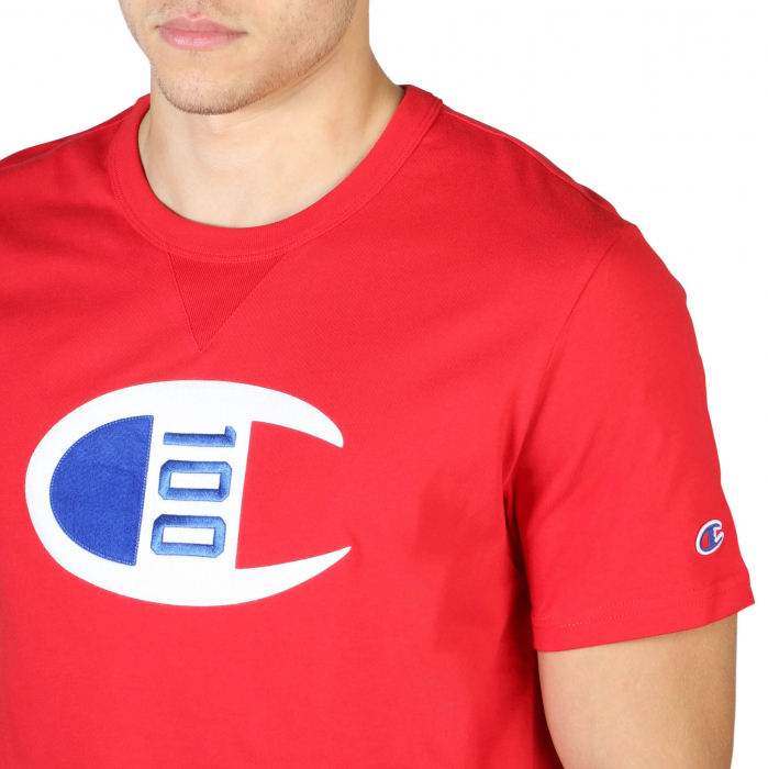 CHAMPION S/S Logo T-Shirt 214371 Red 2