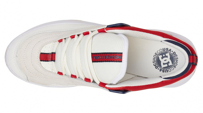 DC SHOES WILLIAMS SLIM WHITE/NAVY/RED 3