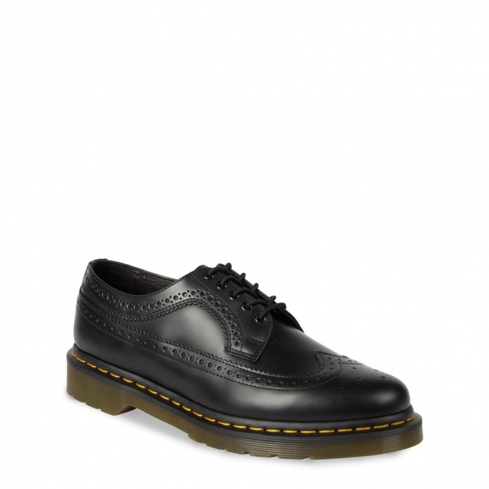 DR. MARTENS 3989 Yellow Stitch Smooth Black 1