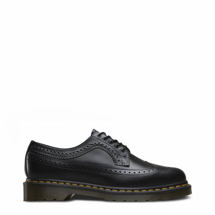DR. MARTENS 3989 Yellow Stitch Smooth Black 0