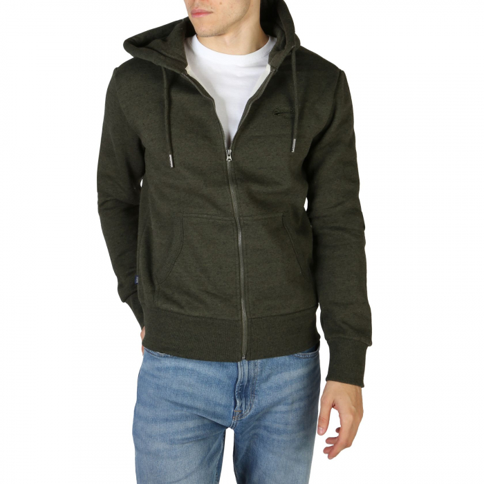 SUPERDRY Orange Label Classic Zip Hoodie Winter Khaki Grit 0