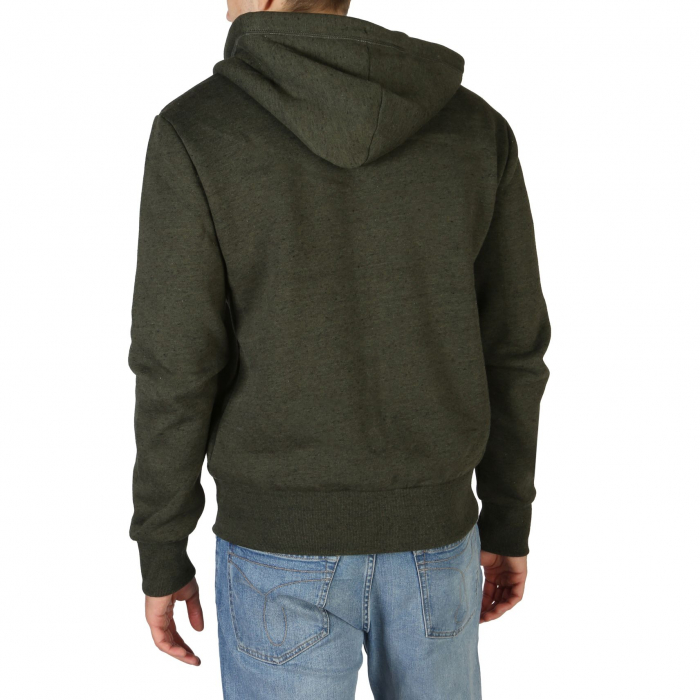 SUPERDRY Orange Label Classic Zip Hoodie Winter Khaki Grit 1