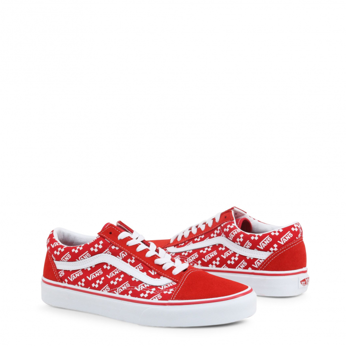 VANS Old Skool (Logo Repeat) Red / True White 1