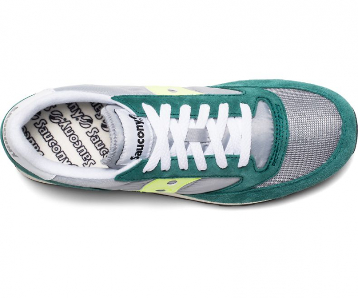 SAUCONY JAZZ ORIGINAL VINTAGE GREEN/GREY/NEON 2