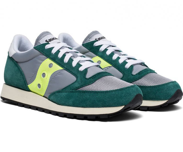 SAUCONY JAZZ ORIGINAL VINTAGE GREEN/GREY/NEON 4