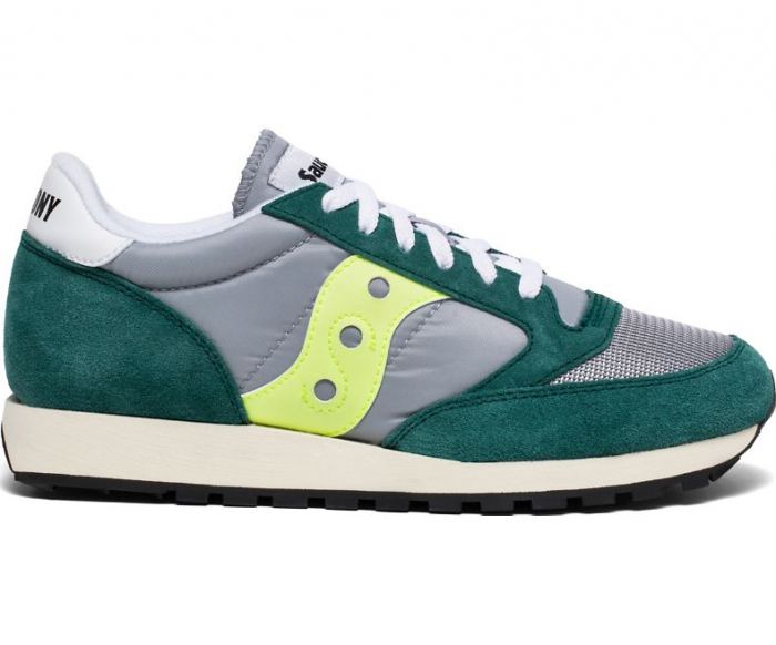 SAUCONY JAZZ ORIGINAL VINTAGE GREEN/GREY/NEON 0