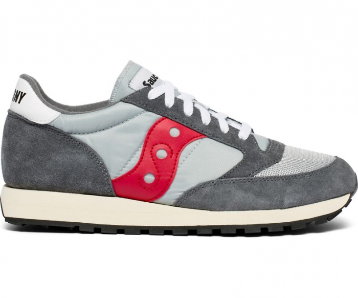 SAUCONY JAZZ ORIGINAL VINTAGE GREY/RED 0