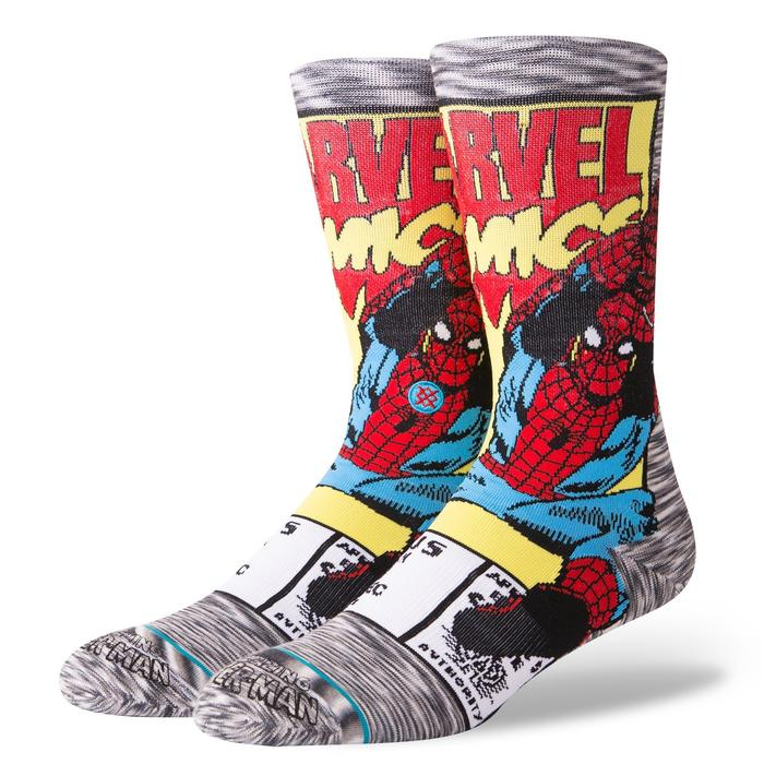 STANCE Spiderman Comic Socks Grey 0