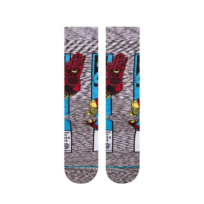 STANCE Iron Man Comic Socks Grey 2